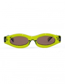 Glasses online: Kuboraum Maske Y5 sunglasses in green acetate