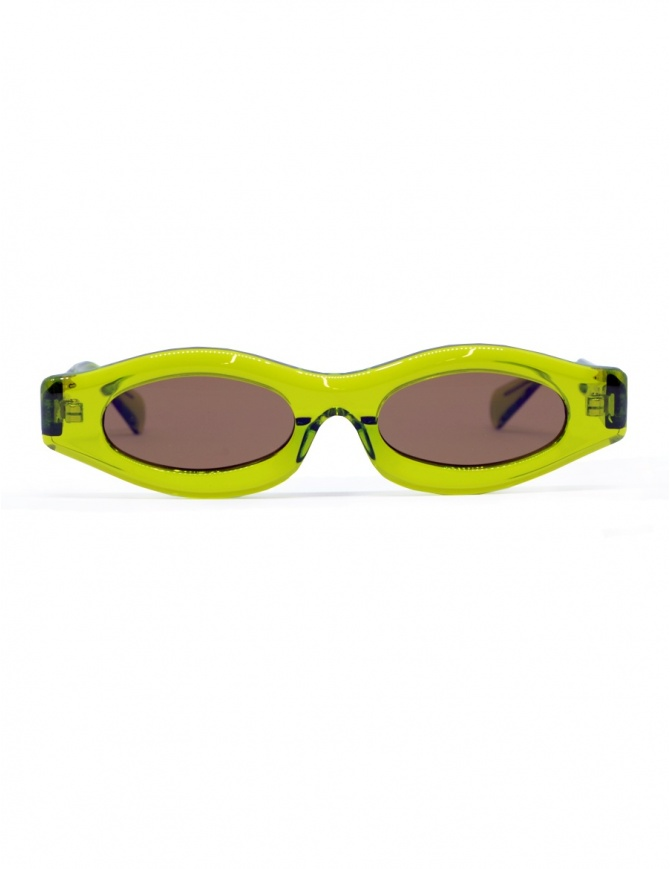 Kuboraum Maske Y5 sunglasses in green acetate Y5 50-21 GR brown glasses online shopping