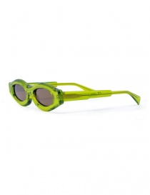 Occhiale da sole Kuboraum Maske Y5 in acetato verde