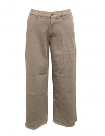 Womens trousers online: AvantgarDenim beige palazzo trousers