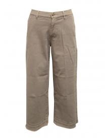 Pantalone palazzo AvantgarDenim colore beige 05B1 3881 1306 order online