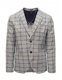 Selected Homme jacket with grey and blue squares 16067388 GREY/BLUE