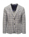 Selected Homme jacket with grey and blue squares buy online 16067388 GREY/BLUE