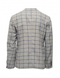 Selected Homme jacket with grey and blue squares
