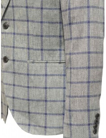 Selected Homme jacket with grey and blue squares price