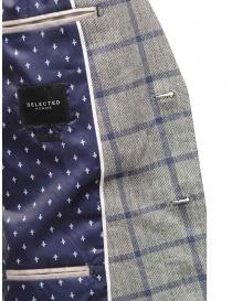 Giacca Selected Homme a quadri grigia e blu giacche uomo acquista online