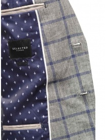 Selected Homme jacket with grey and blue squares mens suit jackets buy online