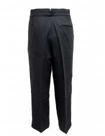 European Culture navy plated trousers