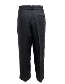 Pantalone European Culture plissettato colore blu navy acquista online