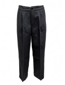 Pantalone European Culture plissettato colore blu navy 07M0 3950 1508