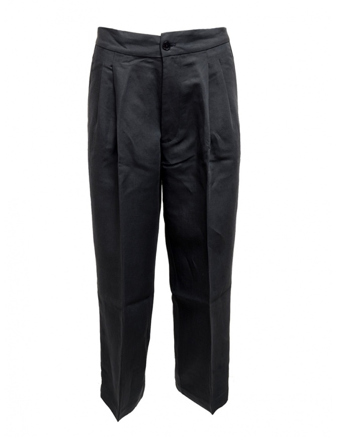European Culture navy plated trousers 07M0 3950 1508 womens trousers online shopping