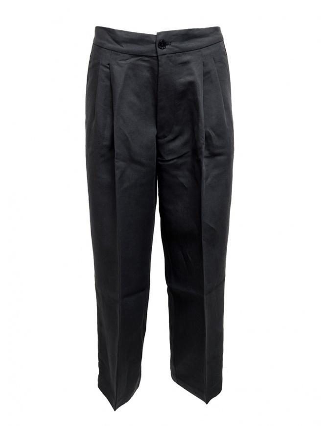 Pantalone European Culture plissettato colore blu navy 07M0 3950 1508 pantaloni donna online shopping