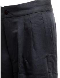 Pantalone European Culture plissettato colore blu navy prezzo