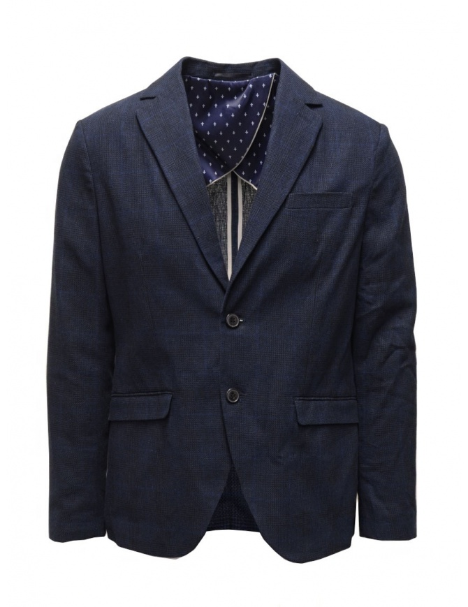 Selected Homme blue and navy suit jacket 16067388 BLUE/NAVY mens suit jackets online shopping