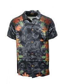 Camicie uomo online: Camicia Rude Riders teschio con spiaggia Waikiki