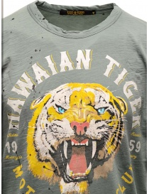 T-shirt Rude Riders Hawaian Tiger colore salvia