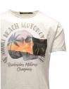 T-shirt Rude Riders bianca con teschio e spiaggia R03200 84025 WHITE prezzo