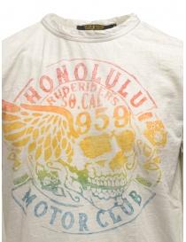 T-shirt Rude Riders avorio con stancil teschio arcobaleno acquista online