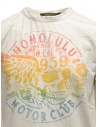 Rude Riders ivory t-shirt with stancil rainbow skull shop online mens t shirts