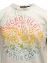 T-shirt Rude Riders avorio con stancil teschio arcobalenoshop online t shirt uomo