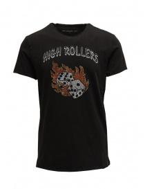 "T-shirt John Varvatos ""High Rollers Tee"" da uomo KG4295V1B KW3B1 001 BLACK order online"