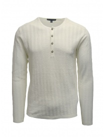 John Varvatos ribbed white pullover on discount sales online