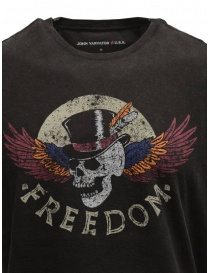 "T-shirt John Varvatos ""Freedom"" colore nero"