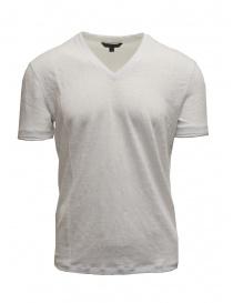 T-shirt John Varvatos colore bianco in lino online