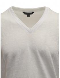 T-shirt John Varvatos colore bianco in lino