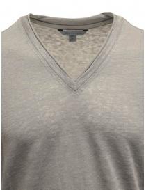 T-shirt John Varvaton grigia in lino