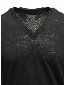 John Varvatos black T-shirt in linen