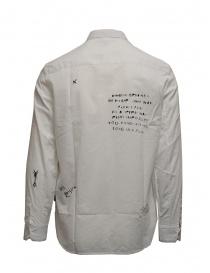 Camicia John Varvatos bianca con disegni