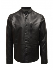 John Varvatos black jacket in sheep leather online