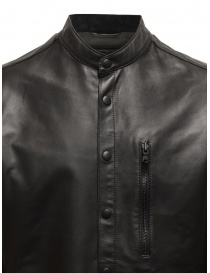 John Varvatos black jacket in sheep leather