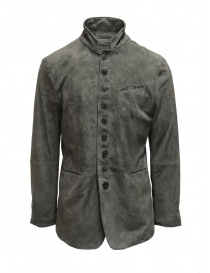 John Varvatos jacket in light grey goat suede online