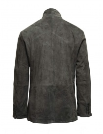 John Varvatos jacket in light grey goat suede