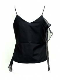 European Culture black top with frills