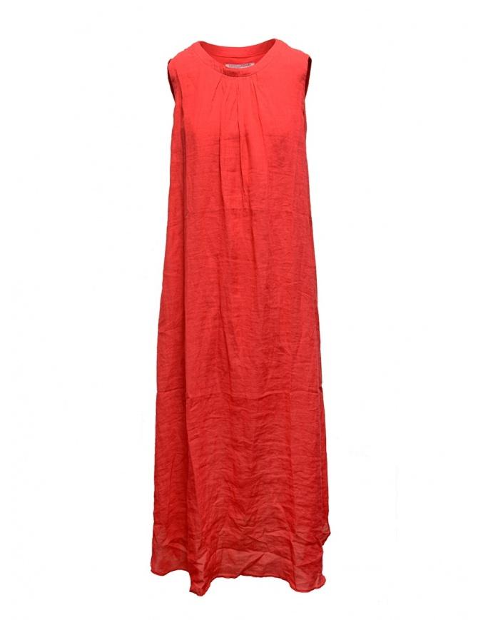 Abito European Culture lungo smanicato rosso 18E0 7027 1413 abiti donna online shopping