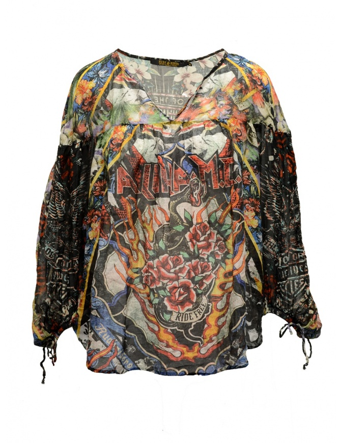 Rude Riders Tour of the World long sleeved blouse R03610 73999 womens shirts online shopping
