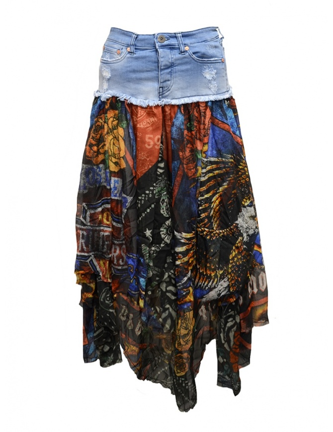 Rude Riders long jeans and fabric skirt R03670 73999 womens skirts online shopping