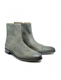 Mens shoes online: John Varvatos boots in grey suede