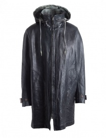 Mens coats online: Carol Christian Poell Reversible Parka Black-White