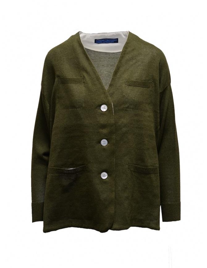 Hiromi Tsuyoshi khaki cardigan RS19-007 KHAKI womens cardigans online shopping