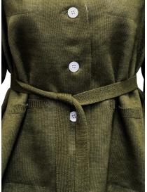 Cardigan Hiromi Tsuyoshi colore cachi cardigan donna prezzo