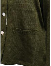 Cardigan Hiromi Tsuyoshi colore cachi acquista online prezzo