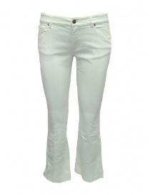 Pantaloni donna online: Pantaloni da donna bianchi Avantgardenim a zampa