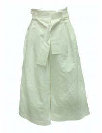 Womens trousers online: European Culture Lux Mood white palazzo trousers