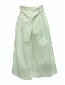 Pantaloni European Culture Lux Mood a palazzo bianchi 0590 6571 0106