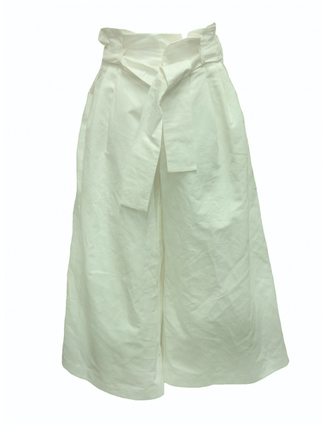 European Culture Lux Mood white palazzo trousers 0590 6571 0106 womens trousers online shopping