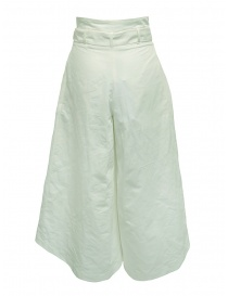 European Culture Lux Mood white palazzo trousers